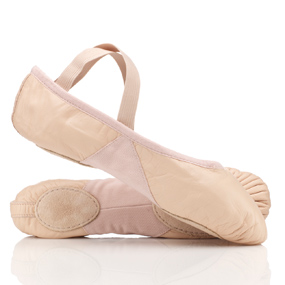 pink leather split sole ballet shoes by bloch by