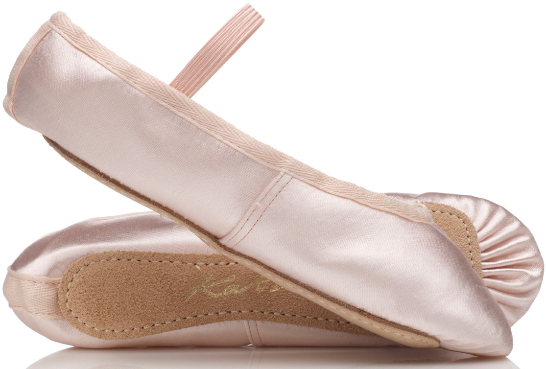 01755e40e1f7 Pink satin ballet shoes by Sugarplum DanceWear